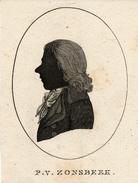 Silhouet, Bataafse Republiek, Batavian Republic, Delegate Piet Van Zonsbeek - Prints & Engravings