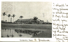 IMMIGRATION DEPOT    BRITISH GUIANA GUYANE BRITANNIQUE  GUAYANA - Postales