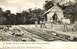 PORTAGE CAMARIA FALLS CUYUNI RIVER      BRITISH GUIANA GUYANE BRITANNIQUE  GUAYANA - Postales