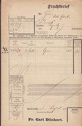 Koenigl. Bayer Staatseisenbahnen Frachtbrief FR. CARL DILCHERT, BAYREUTH 1905 PEGNITZ (2 Scans) - Historische Dokumente
