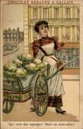 CHROMOS - Pub Pour Chocolat DEBAUVE & GALLAIS - Objet à Chercher - Asperges - Chromos