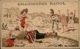 CHROMOS - Pub Pour Chaussures RAOUL à Toulouse - David Et Goliath - Chromos