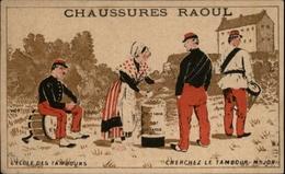 CHROMOS - Pub Pour Chaussures RAOUL à Toulouse - Ecole Des Tambours - Vieux Papiers