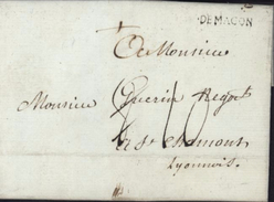 Lettre Commerciale De Macon 8 Fev 1786 Pour St Chamond Taxe Manuscrite Modifiée Lenain P439 N°8 I10 60 € - 1701-1800: Precursores XVIII