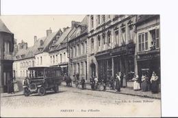 Frevent. Rue D'Hesdin. Mini-bus, Vélos, Carriole, Magasins...grosse Animation - Autres Communes