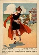 CHROMOS - Pub Pour Alcool RICQLES - Maillot De Bain - Scène De Plage - Illustré Par PREJELAN - Chromos