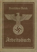 Germany NAZI Swastika Arbeitsbuch - Documents