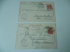 OBLITERATION ANCY  MOSEL 1901 SUR DEUX CARTE POSTALE - Postmark Collection (Covers)