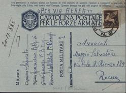 Seconda Guerra Mondiale Carte Propagande Posta Militare PM 2 Divison Acqui Iles Ioniennes Près Corfou Cephalonie Grèce - Occupation 2ème Guerre Mond. (Italie)