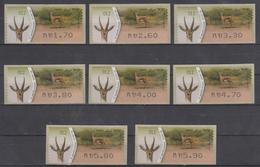 ISRAEL SIMA KLUSSENDORF ATM G. GAZELLA ACACIAE DEER FULL SET OF 8 STAMPS NUMBER 012 - Viñetas De Franqueo (Frama)