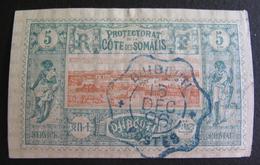 LOT R3586/804 - 1894 - COLONIES FR. - CÔTE DES SOMALIES - N°9 - SUPERBE CàD BLEU : DJIBOUTI 15 DEC 1896 - French Somali Coast (1894-1967)