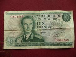 LUXEMBOURG Billet De 10 Francs 20/03/1967 Ayant Circulé - Luxembourg