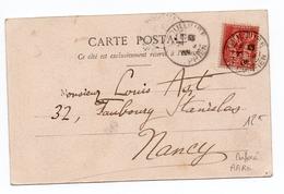 1903 - CP De TOULOUSE (HAUTE GARONNE) Avec TYPE BLANC PERFORE DF - 1877-1920: Période Semi Moderne