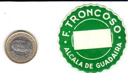 ETIQUETA  - F. TRONCOSO  -ALCALA DE GUADAIRA - Publicidad
