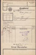 Koenigl. Bayer Staatseisenbahnen Frachtbrief ERNST MARSTALLER Zuckerwaren HOF 1910 PEGNITZ (2 Scans) - Historische Dokumente