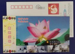 Lotus Flower,bee,honeybee,MRI Magnetic Resonance Imaging,China 2004 Guangchang People Hospital Advert Pre-stamped Card - Plants