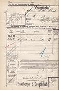 Koenigl. Bayer Staatseisenbahnen Frachtbrief HASSBERGER & DRESCHFELD, NÜRNBERG 1910 PEGNITZ (2 Scans) - Historische Dokumente