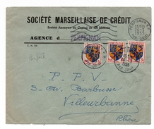 1955 - ENVELOPPE De PERPIGNAN (PYRENEES ORIENTALES) Avec PERFORES - Marcophilie (Lettres)