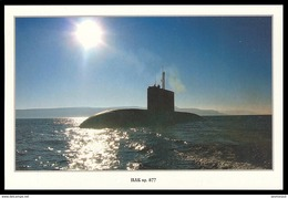 RUSSIA POSTCARD 999 Mint SUBMARINE Diesel PROJECT 877 NORTH NAVY NAVAL SOUS-MARIN U-BOOT ARCTIC POLAR NORD TRANSPORT - Unterseeboote