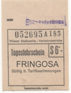Österreich - Wien - Wiener Stadtwerke Verkehrsbetriebe - Tagesfahrschein S 6.- - Tramways