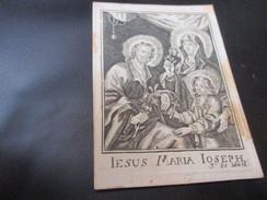 Oud Devotieprentje,Jesus Maria Joseph ,edit J De Wael - Devotion Images