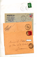 Lot 4 Lettre Cachet Esprels - Postmark Collection (Covers)