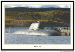 RUSSIA POSTCARD 999 Mint SUBMARINE NUCLEAR 705 ATOMIQUE NORTH NAVY NAVAL SOUS MARIN U BOOT ARCTIC POLAR NORD ATOM ENERGY - Unterseeboote