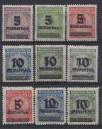 Germany 1923 Nov (**) MNH Mi.332-337 A+B (nicht Gepruft) - Unused Stamps