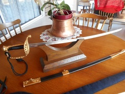 "Sabre Marine France ""Règlementaire"" Fabricant : Guillouard-France Nantes  Septembre 1999 - Knives/Swords"