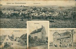 AK Ingelfingen Stachenhausen, Gesamtansicht, Strassenpartie, Schulhaus Gasth. Z. Lamm, Um 1910, Stark Fleckig !! (18538) - Duitsland