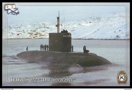 """RUSSIA POSTCARD 3665 Mint SUBMARINE 877 """"MAGNITOGORSK"""" SOUS MARIN U BOOT NAVY NAVAL ARCTIC POLAR NORD ARCTIQUE POLAIRE - Unterseeboote"""