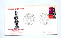 Lettre Fdc 1969 Art Tradition - Côte D'Ivoire (1960-...)