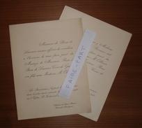 FAIRE-PART MARIAGE 1921 BROU De LAURIERE # OLLIVIER De LA CROMPE De LA BOISSIERE Pontaillac-Royan Douville Dordogne * - Annunci Di Nozze