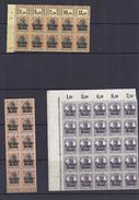 Belgie -Belgique OC10 + OC11 + OC16 + OC17 + OC19veldelen  - Postfris - Guerre 14-18