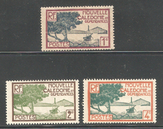 New Caledonia 1928,1c & 2c ,4c,Sc 136-138,Mint Hinged*OG (SH-10) - Unused Stamps