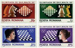 Ref. 30810 * NEW *  - ROMANIA . 1980. CHESS OLYMPIAD IN MALTA. OLIMPIADA DE AJEDREZ EN MALTA - 1948-.... Republics