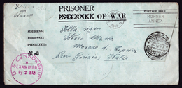 USA: POW Prisoner Of War Cover To Italy, 1943, Censored, WW2, Italian Military In Camp (traces Of Use) - Verenigde Staten