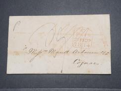 GRANDE BRETAGNE - Lettre De Hull ( Cachet Au Verso ) Pour Cognac En 1834 - L 8759 - ...-1840 Préphilatélie