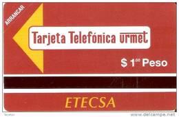 PMN-03 TARJETA DE CUBA DE 1 PESO CABINA TELEFONICA  (NUEVA-MINT ) - Cuba