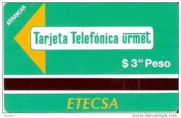 PMN-04 TARJETA DE CUBA DE 3 PESOS CABINA TELEFONICA (NUEVA-MINT) - Cuba