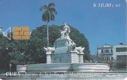 Nº 034 TARJETA DE CUBA DE LA FUENTE DE LA INDIA - Cuba