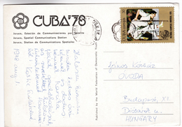 CP1361 Cuba 1978 Festival Jaruco, Station De Communications Spatiales Nice Stamp Mi 2140 Judo Olympic - Cuba