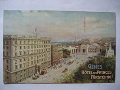 ITALIE        LIGURIA   -  GENOVA  -    HOTEL DES PRINCES FURSTENHOF        ANIME   TTB - Genova (Genoa)