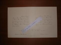 FAIRE-PART MARIAGE 1922 CHANCOGNE # PARIS SIMON Chalagnac Dordogne Bordeaux Gironde Généalogie - Boda