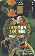 125 TARJETA DE CUBA DE 2 LOROS (SIDA)  (PARROT-LORO) - Cuba