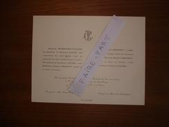 FAIRE-PART MARIAGE 1922 COURTEY # FAURE DUDOIGNON-VALADE Périgueux Dordogne - Mariage