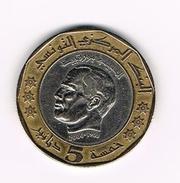 ) TUNESIE   5  DINARS   2002 ( 1423) - Túnez