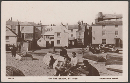 On The Beach, St Ives, Cornwall, C.1910s - Valentine's XL RP Postcard - St.Ives