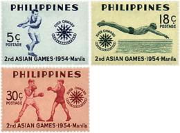 Ref. 27258 * NEW *  - PHILIPPINES . 1954. 2nd ASIAN GAMES IN MANILA. 2 JUEGOS ASIATICOS EN MANILA. - Philippines