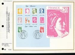 "Feuillet   C.E.F.  1er Jour  1980   -- France N° 545  --  Type "" Marianne "" -- Type "" Sabine "" 1979 - FDC"